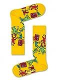 Happy Socks Keith Haring All Over Sock Medium Yellow 10-13