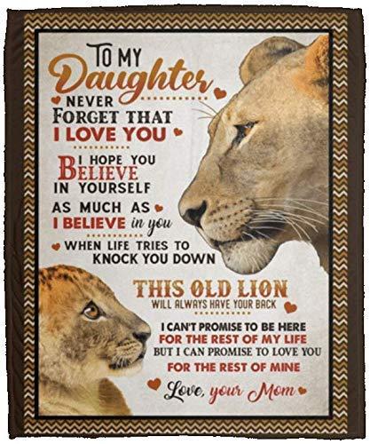 AEMAPE Manta Regalos para mi Hija Nunca Olvides Que te Amo Espero Que creas en ti Mismo Manta de Lana de león Manta de Sherpa