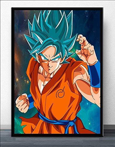 AJleil Puzzle 1000 Pezzi Dragon Ball Goku Anime Giapponesi Manga Ultra Instinct Art Painting Puzzle 1000 Pezzi Animali Divertente Gioco per Famiglie per Bambini adulti50x75cm(20x30inch)
