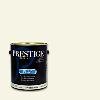 Prestige Exterior Paint and Primer in One, 1-Gallon, Flat, Smooth Stone