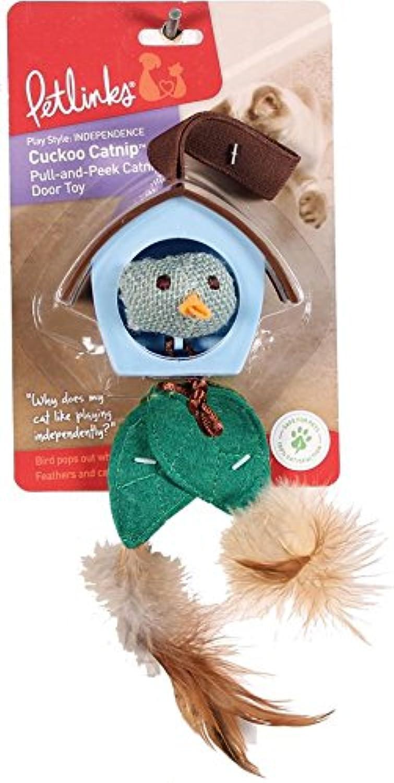 Petlinks Cuckoo Catnip PullandPeek Door Hanger Cat Toy