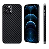 Carbon Fiber Texture Phone Case for iPhone 12 Pro 6.1', Lightweight Slim Protective Cover 6g & 0.4mm Compatible with Apple iPhone 12 Pro Case, Black