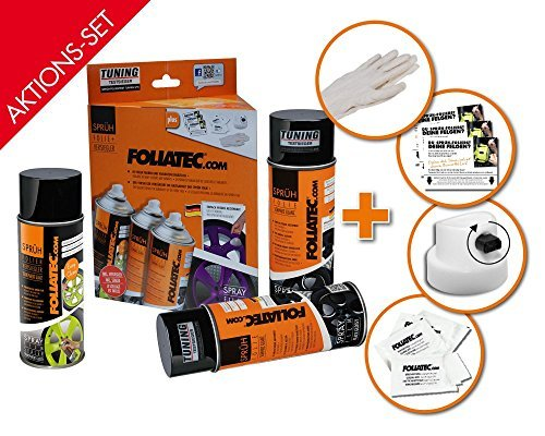 Foliatec 2303 Spray Film (Sprühfolie) Satz - Kupfer Metallic matt 2x400ml und Versieglerspray - Klar matt 1x400ml