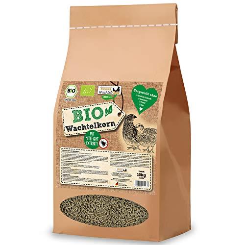 WachtelGold Bio-Wachtelkorn 10kg - Wachtelfutter Pellets - Bio Legekorn Biofutter