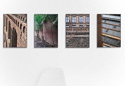 Industrial 4er set | series | Lost Places, Fine Art Hahnemühle mit grober, tiefenstarker Oberflächenstruktur - 4x 18 x 24 cm – ungerahmt -