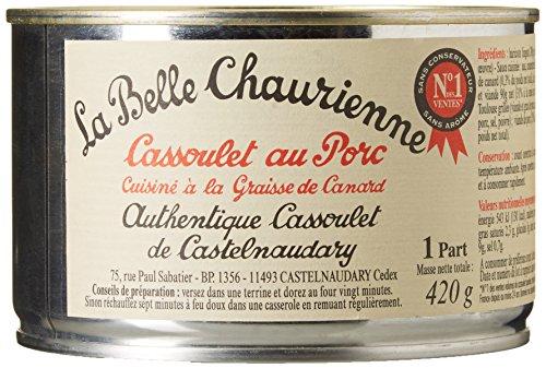 La Belle Chaurienne Cassoulet au Porc Cuisiné à la Graisse de Canard 420 g 1 Unité