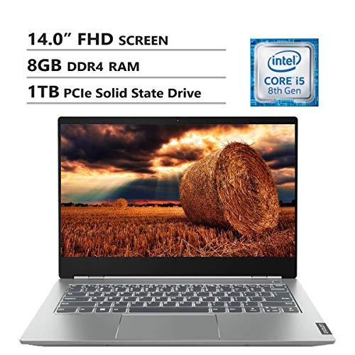 "Lenovo ThinkBook 14S 14"" FHD Screen Laptop, Intel Core i5-8265U Up to 3.9GHz, AMD Radeon 540X, 8GB DDR4 RAM, 1TB PCIe SSD, Wireless-AC, HDMI, USB Type-C, Backlit Keyboard, Windows 10 Home, Gray"