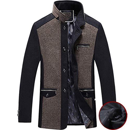 Richly Shop Mannen Jas Winter Wol Caot Fashion Business Dikker Slanke Overjas Jas Mannelijke Peacoat Merk Kleding