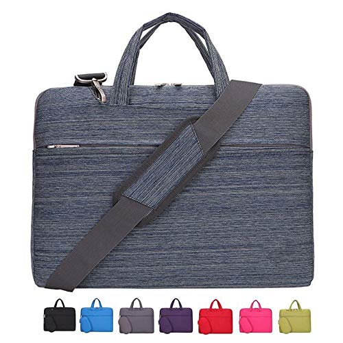 Laptop Shoulder Bag 13 Inch MacBook Pro Air, KUSDET 13.3 Inch Laptop Shoulder Bag for Dell XPS Lenovo ThinkPad Acer HP etc (13-13.3 inch, Stripe Blue)