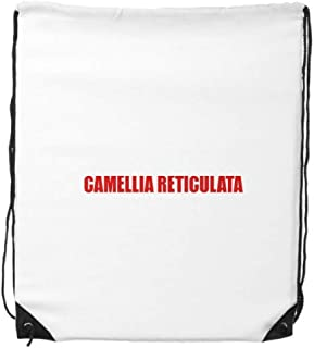 cold master DIY lab Camellia Reticulata Flower Red Drawstring Backpack Shopping Sports Bags Gift