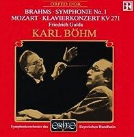 Symphonie No. 1; Klavierkonzer by MOZART / BRAHMS