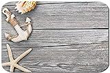 Papillon Impreso Alfombra De Baño Antideslizante, Poliéster Ancla Estrellas De Mar, 60x40cm
