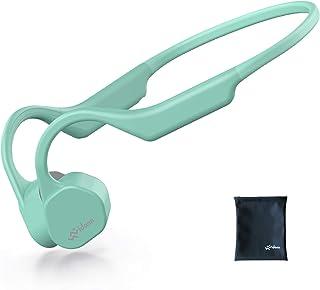 Vidonn F3 「最新版」 骨伝導イヤホン Bluetooth 5.0 ワイヤレスヘッドホン チタン合金 防水 超軽量29g こつでんどう ブルートゥース イヤホン 耳掛け式 両耳通話 スポーツ - 薄緑