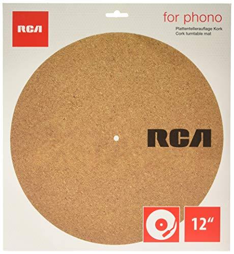 RCA Plattentellerauflage für Plattenspieler aus Kork - 30cm Durchmesser, antistatisch, plattenschonend, vibrationsdämpfend