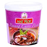Mae Ploy Panang Curry Paste, Authentic Thai Panang Curry Paste for Thai Curries & Other Dishes, Aromatic Blend of Herbs, Spices & Shrimp Paste, No MSG (14 oz Tub)
