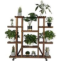 Yaheetech 6 Tier Wood Plant Pots Shelves Tiered Flower Rack