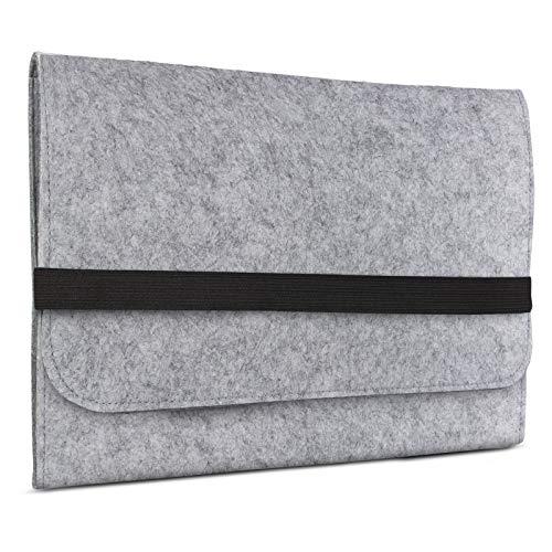 eFabrik Schutzhülle für Asus Pro B9440UA Tasche aus Filz 14 Zoll Filztasche Hülle Sleeve Soft Cover Schutztasche Sleeve, Farbe:Grau