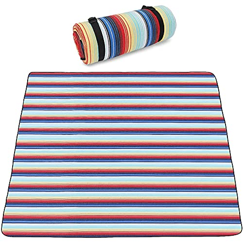 YUEWEIWEI Manta de picnic grande al aire libre alfombra piso impermeable plegable camping bolsa de asas ligera gran tamaño alfombra