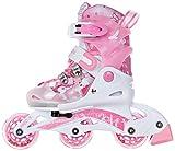 RAVEN Rollers Princesse réglables en Tailles et modulables en Patins à roulettes pour Fille Rose (Rose, 26-29)