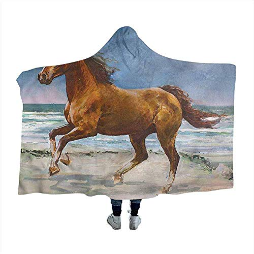 Dierenomhang deken galopperend paard aan land winter nieuw deken 50