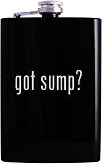 got sump? - 8oz Hip Alcohol Drinking Flask, Black