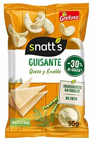 Grefusa Snatt's Snack Guisante, con Queso y Eneldoy, 95g
