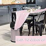 PartyWoo Tischdecke Rosa, 137 x 274 cm/ 54 x 108 Zoll Rechteckige Tischdecke Abwaschbar für 6 bis 8 Fuß Tisch, Tischtuch, Table Cloth, Wasserdichte Tischdecke für Party, Geburtstag, Hochzeit (1 STÜCK) - 4
