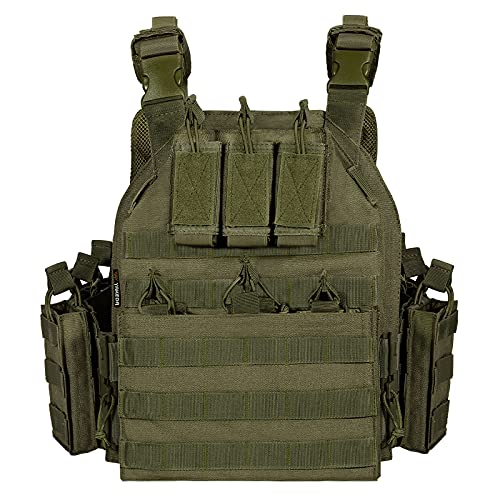 vAv YAKEDA Outdoor Tactical Military Vest Airsoft Vest for Men (Army Green)