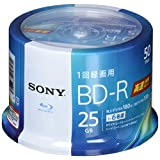ソニー ビデオ用ブルーレイディスク 50BNR1VJPP6(BD-R 1層:6倍速 50枚スピンドル)