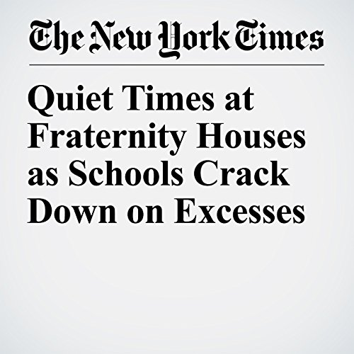 Quiet Times at Fraternity Houses as Schools Crack Down on Excesses copertina