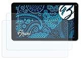 Bruni Schutzfolie kompatibel mit Blaupunkt Atlantis A10.G403 Folie, glasklare Bildschirmschutzfolie (2X)