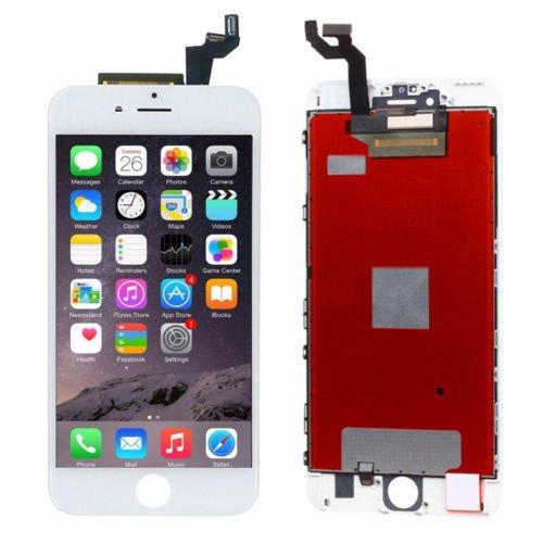 ZTR - Pantalla LCD Compatible con iPhone 6S Plus de 5,5 Pulgadas, Marco de Cristal Frontal de Repuesto para digitalizador, Color Blanco