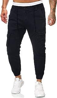 Pants for Men,IHGTZS Men's Casual Pure Color Outdoors Pocket Beach Work Trouser Cargo Pant