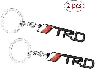 WindCar 1 PC TRD Key Chain Metal Keychain Fob Ring Keychain for Tundra Tacoma Toyota (Black-2pcs)