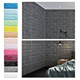 KINLO 5 Piezas 77 x 70 cm Pegatina de Pared 3D PE Espuma DIY 3D Ladrillo Pegatina Pared Sticker...