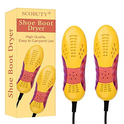 Secador Zapatos, Zapatos Calentador, Secador de Pies, Secador de Botas Eléctrico, Desodorante con Olor Deshumidifica el Dispositivo Calentador de Zapatos, 220V-50Hz Portátil del Hogar Eléctrico