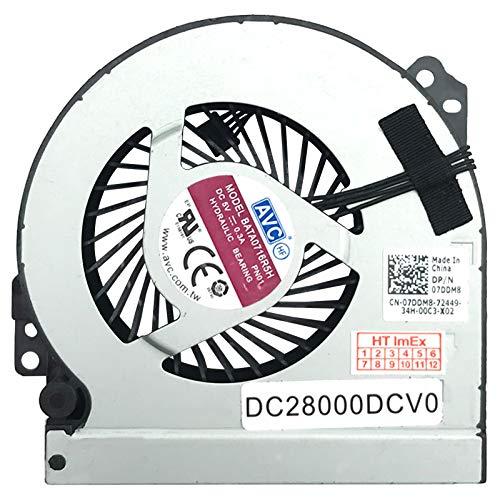 Fan Cooler Compatible with Dell Precision M6800, Dell P/N: 07DDM8, Model: KSB0605HC-DA03, P/N: DC28000DCV0, P/N: DC28000DCDL