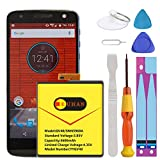 Motorola GV40 Battery, [Upgraded] Euhan 3600mAh Li-Polymer SNN5968A Internal Replacement Battery for Motorola Moto Z Droid Force XT1650 with Repair Tools Kit [24 Month Service]