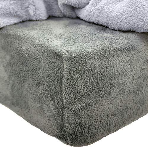 Brentfords Teddy Spannbettlaken für Super-King-Size-Bett, Anthrazit