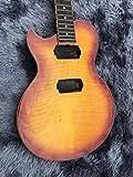 SYXMSM DIY (NO Nuevo) Guitarra Eléctrica Zurda Tigre/Flame Maple Top Tobaccoburst Color