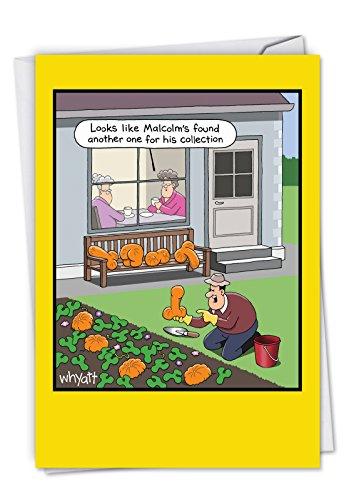 c6094hwg Rude Gemüse: Humorvolle Halloween Karte mit der unangemessen geformte Kürbisse, mit Umschlag.