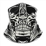 IconSymbol Bandana Neck Gaiter Dust Face Mask Skull Of Viking Warrior Wind UV Sun Mask Headwear for...