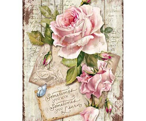 Carta Di Riso Rosa E Il Testo, La Stamperia, A4, Decoupage Carte Di Riso, Hobby, Colori