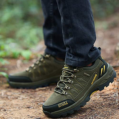 Unitysow Men's Outdoor Hiking Boots Women's Hiking Shoes Lace-up Non-Slip Climbing Shoes All Season Walking Travelling…