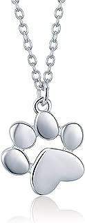 Colgantes de Plata de Ley 925 con Huellas de Animales, diseño de Huellas de Perro, Gato y Huellas de pie, para Mujer