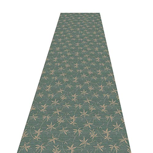 LQQ Croppable Runner Rug, Washable Non-Slip Green Carpet Runner for Kitchen Bedroom Hall Entrance, 60/80/100/120/140cm Wide (Size : 1.4x7m)