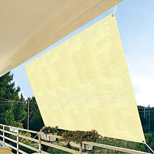 Dough.Q Sonnensegel wasserdicht, rechteckig, Schatten Tuch mit 8m Seilen, wirksamer Sonnenschutz, UV-Schutz, Sonnenschutzstoff für Balkon, Schwimmbad, Kleiner Garten