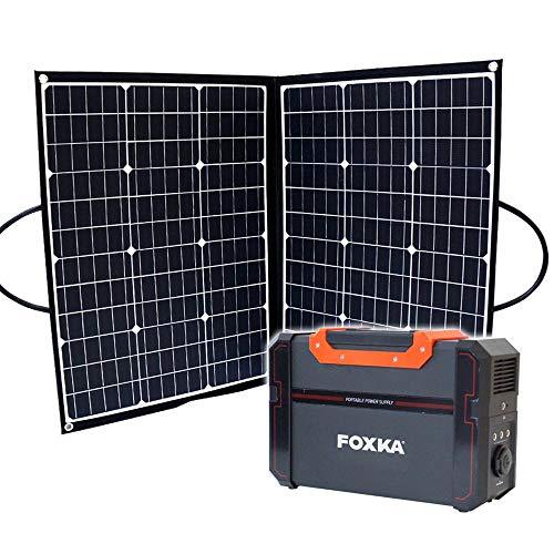 ポータブル電源 120000mAh ソーラーパネル 100W セット 1年保証 家庭用蓄電池 防災 停電対策 キャンプ 車中泊 アウトドア [XAA374XO828]