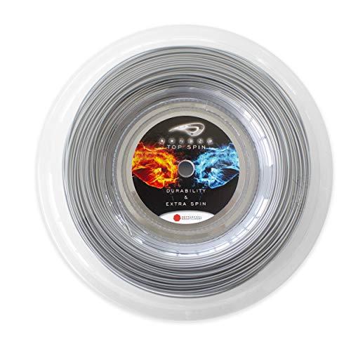 Dozene Corda racchetta da tennis 200 m 130 mm resistente qualità effetto extra controllo volea sacche Co poliestere monofilamento heptagonale colore grigio