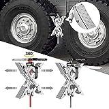 InLoveArts X-Chock Cuñas para Ruedas,calzos para neumáticos de camión, estabilizador de Tope de Rueda de RV,Tope de Rueda,estabilizador de Rueda,con Llave integrada,Abierto de 2 a 10 Pulgadas,2 Piezas